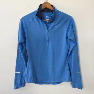 Nike Dri-FIT Element Half-Zip Long-Sleeve Top Blue